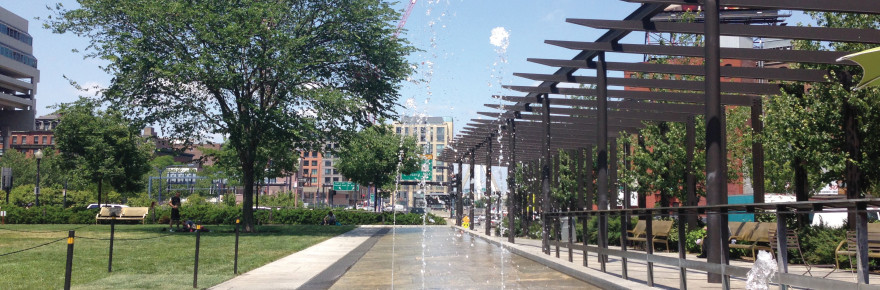 The Canal Fountain, North End Park, Greenway. (Photo by Katherine Barnes)