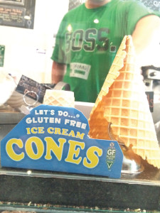 Allsoton's FoMu offers gluetn-free cones. (Photo by Tia DiSalvo)