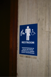Gender neutral bathroom at Boston City Hall. (Photo by Jumayar Ahmed)